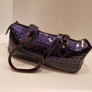 ARCADIA Classic Blue Patent Leather Handbag